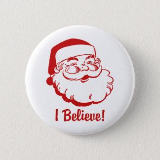 Weihnachtsmann Runder Button 5,7 Cm