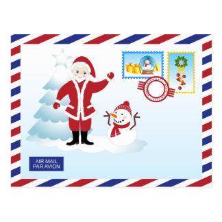 Weihnachtsmann-snail mail postkarte
