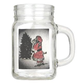 Weihnachtsmann u. Baum Einmachglas