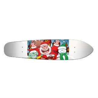 Weihnachtsmann und sein Team sind zum Weihnachten 19,7 Cm Skateboard Deck