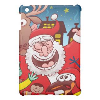 Weihnachtsmann und sein Team sind zum Weihnachten iPad Mini Hülle