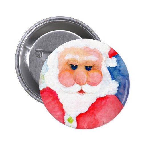 Weihnachtsmann vorlagen aquarell anstecknadel zazzle - Aquarell vorlagen ...