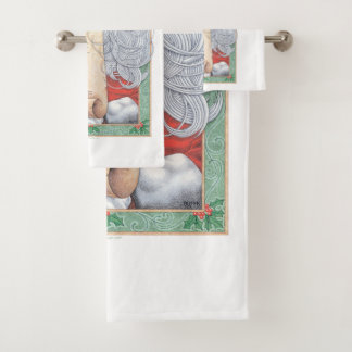 Weihnachtsmann-Weihnachten Badhandtuch Set