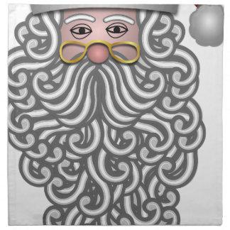 Weihnachtsmann-Weihnachtsfeiertagsfreude Serviette