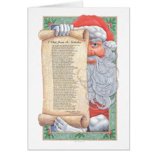 Weihnachtsmann-Weihnachtsgedicht-Karte Grußkarte