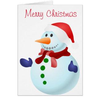 Weihnachtsmann-Weihnachtsgruß-Karte Karte