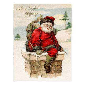 Weihnachtsmann-Weihnachtspostkarte Postkarte
