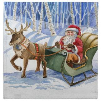 Weihnachtsmann-Weihnachtsservietten Stoffserviette