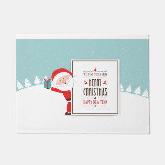 Weihnachtsmann wünschen wir Ihnen eine frohe Türmatte