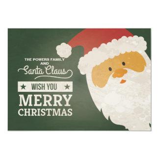 Weihnachtsmann wünscht Feiertags-Karte 12,7 X 17,8 Cm Einladungskarte
