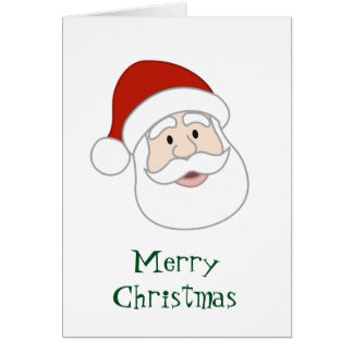 Weihnachtsmannillustration u. -text karte