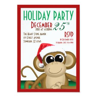 """Weihnachtsmannmütze-Affe 5"""""""" Party Einladungen des 12,7 X 17,8 Cm Einladungskarte"""