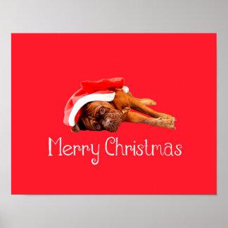Weihnachtsmannmütze-frohe Weihnachten Custom Dogue Poster
