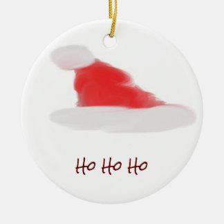 Weihnachtsmannmütze Keramik Ornament