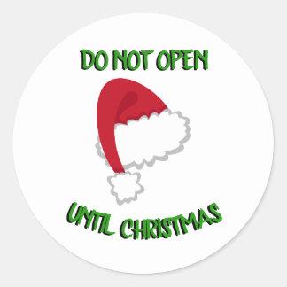 Weihnachtsmannmütze öffnen nicht Aufkleber