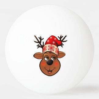 Weihnachtsmanns Ren Ping-Pong Ball