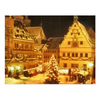 Weihnachtsmarkt Deutschland Postkarte