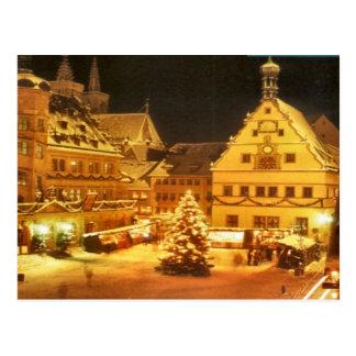 Weihnachtsmarkt in Deutschland Postkarte