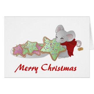Weihnachtsmaus der Plätzchendieb Grußkarten