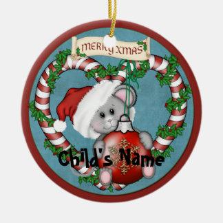 Weihnachtsmaus Keramik Ornament