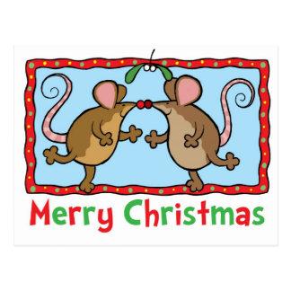 Weihnachtsmäuse Postkarte