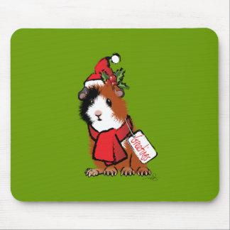 Weihnachtsmeerschweinchen-Gruß Mauspad
