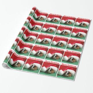 Weihnachtsmeerschweinchen im Hut-Packpapier Geschenkpapier