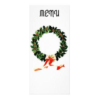 Weihnachtsmenü Werbekarte