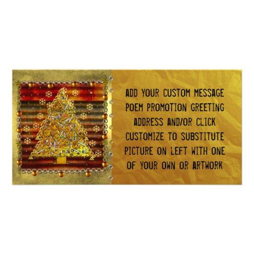 Weihnachtsmetallbaum Photokarten