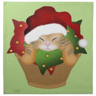 WeihnachtsMiezekatze Serviette