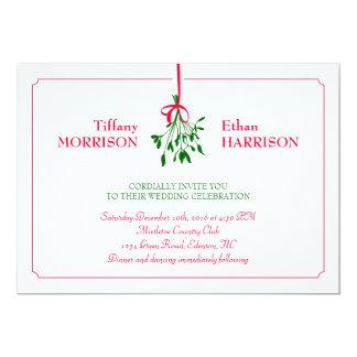 Weihnachtsmistelzweig-Hochzeits-Einladung 12,7 X 17,8 Cm Einladungskarte