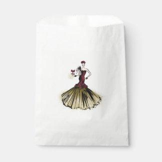 Weihnachtsmode-Illustration mit Paket Geschenktütchen