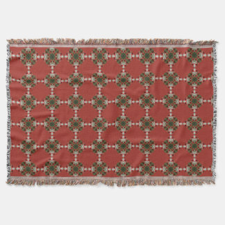 Weihnachtsmohnblumen-Wurfs-Decke Decke