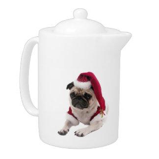 WeihnachtsMops - Weihnachtsmann-Hund - verfolgen