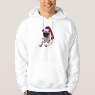 WeihnachtsMops - Weihnachtsmann-Hund - verfolgen Hoodie