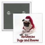 WeihnachtsMöpse und -küsse Anstecknadelbutton