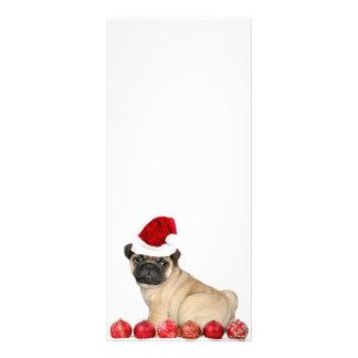 WeihnachtsMopshund Werbekarte
