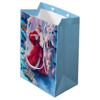 Weihnachtsmorgen-mittlere Geschenk-Tasche Mittlere Geschenktüte