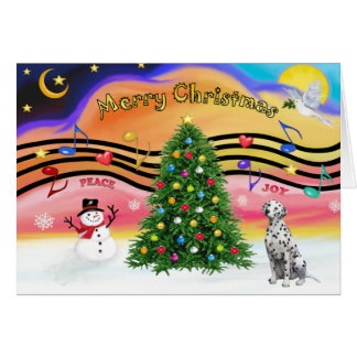 Weihnachtsmusik 2 - Dalmatiner Karte
