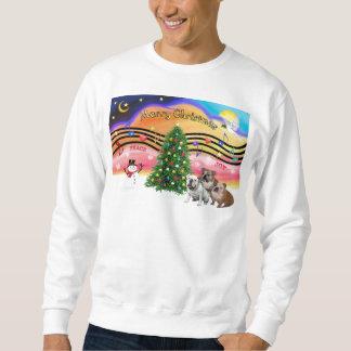Weihnachtsmusik 2 - englische Bulldoggen (drei) Sweatshirt
