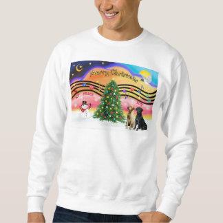Weihnachtsmusik 2 - Labrador-Retriever (zwei) Sweatshirt