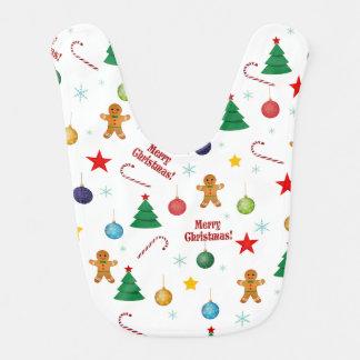 Weihnachtsmuster Babylätzchen