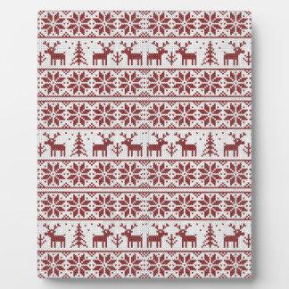 Weihnachtsmuster Fotoplatte