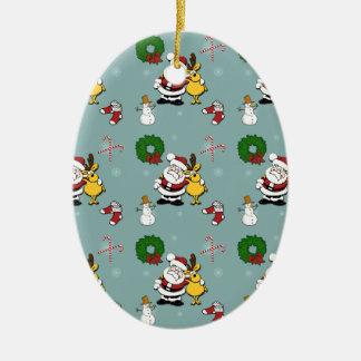Weihnachtsmuster Keramik Ornament