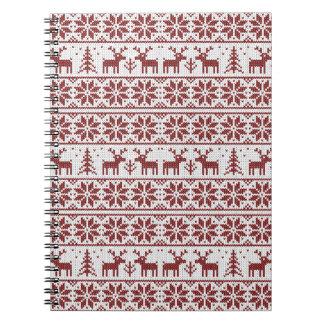 Weihnachtsmuster Notizblock