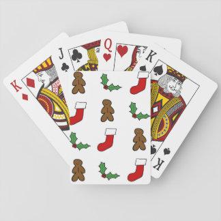 Weihnachtsmuster Spielkarten
