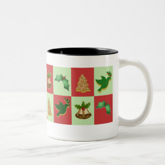 Weihnachtsmuster-Tasse Zweifarbige Tasse