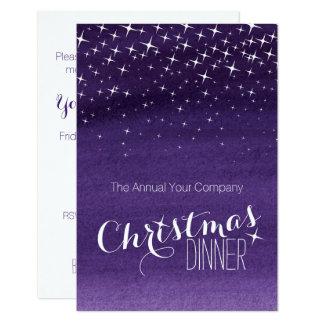 Weihnachtsnachthimmel hat die lila Party Einladung Karte