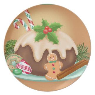 Weihnachtsnachtisch-Melamin-Platte Melaminteller