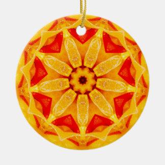 Weihnachtsnarzissen-Fraktal Keramik Ornament